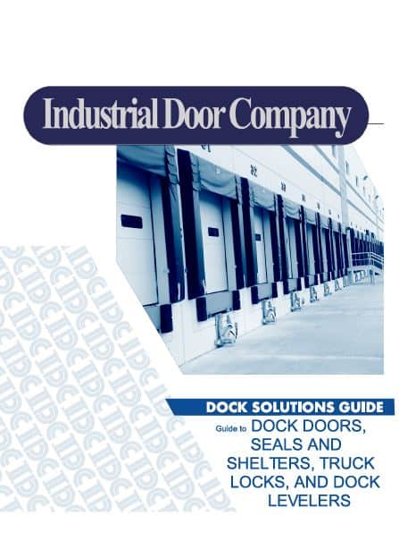 Cover of the Industrial Door Company dock solutions guide book